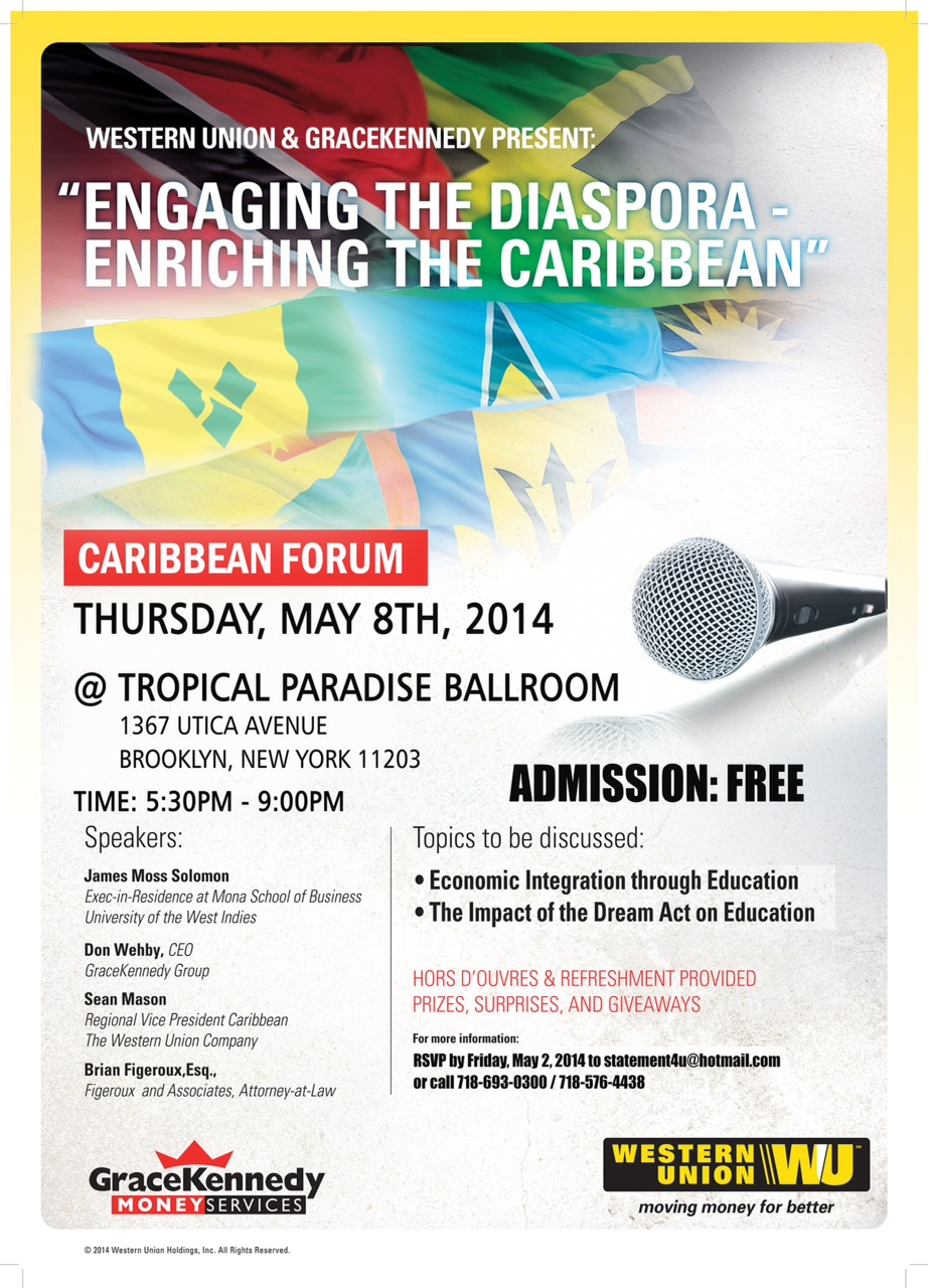 ENGAGING THE DISAPORA - ENRICHING THE CARIBBEAN THROUGH EDUCATION