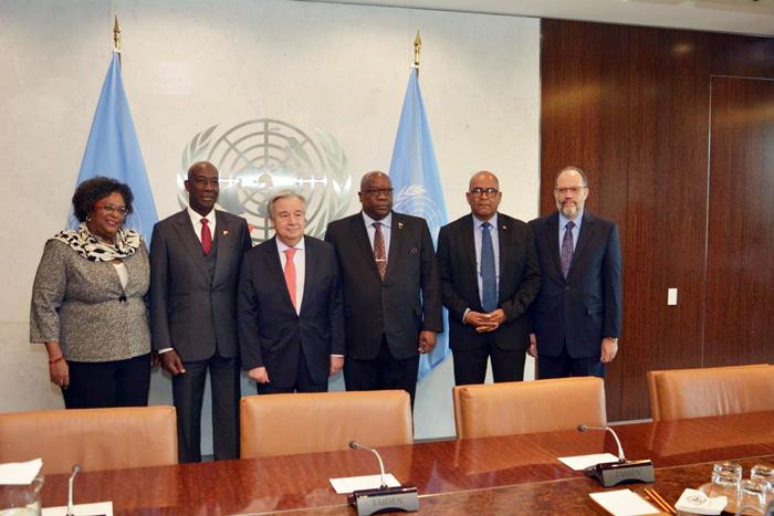 CARICOM leaders meet with UN Secretary General on Venezuela crisis